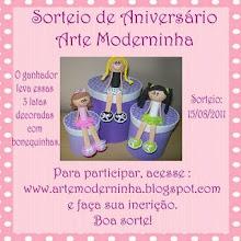 Sorteio de Aniversário Arte Moderninha!