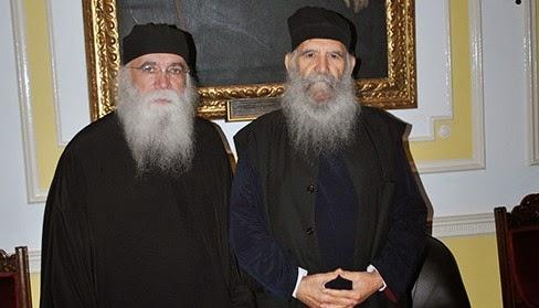 Συνάντηση Γέροντος Νεκταρίου Μουλατσιώτη με τον Αρχιεπίσκοπο Θυατείρων (Αγγλίας) κ.κ. Γρηγόριο