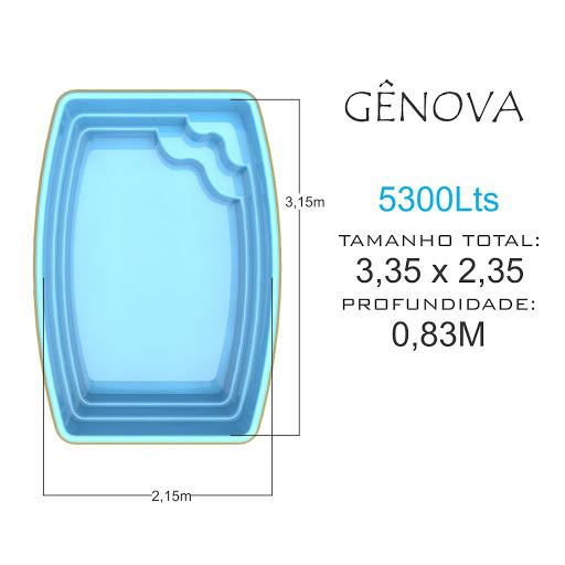 Piscina de fibra - Gênova 5300 Lts