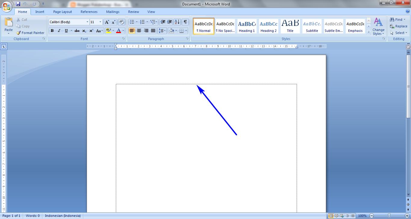 ... Garis Putus - Putus Kotak Tepi Microsoft Word (Text Boundaries