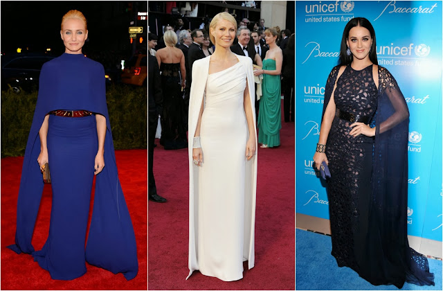 Cameron Diaz (Stella McCartney)//Gwyneth Paltrow (Tom Ford)// Katy Perry (Naeem Khan)