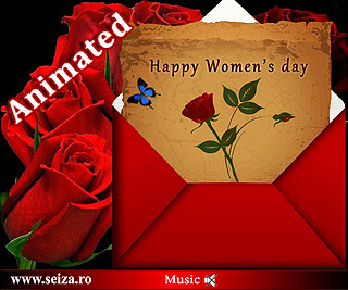 Flash ecard for the international women's day