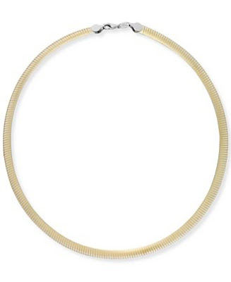 two-tone reversible 14K Gold and Sterling Silver necklace