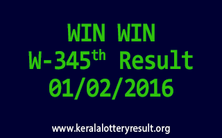 WIN WIN W 345 Lottery Result 1-2-2016