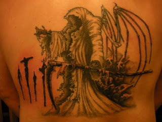 Grim Reaper tattoo - Grim Reaper with skeletal wings