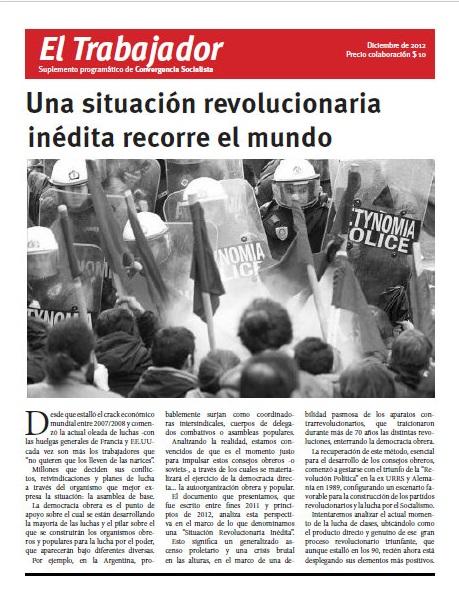 Situación Revolucionaria Inédita