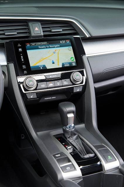 Novo Honda Civic 2016 - painel central
