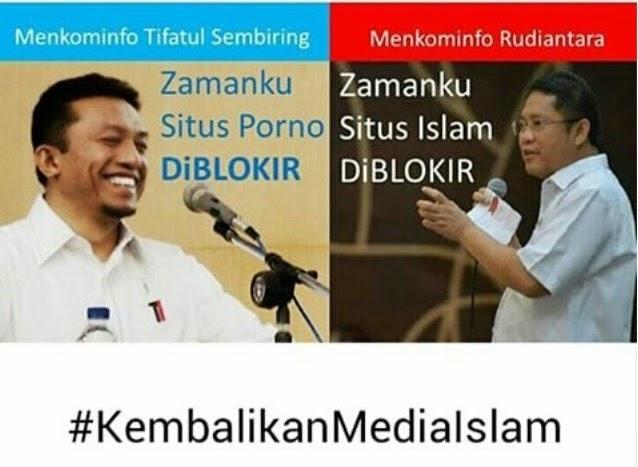 meme blokir situs islam