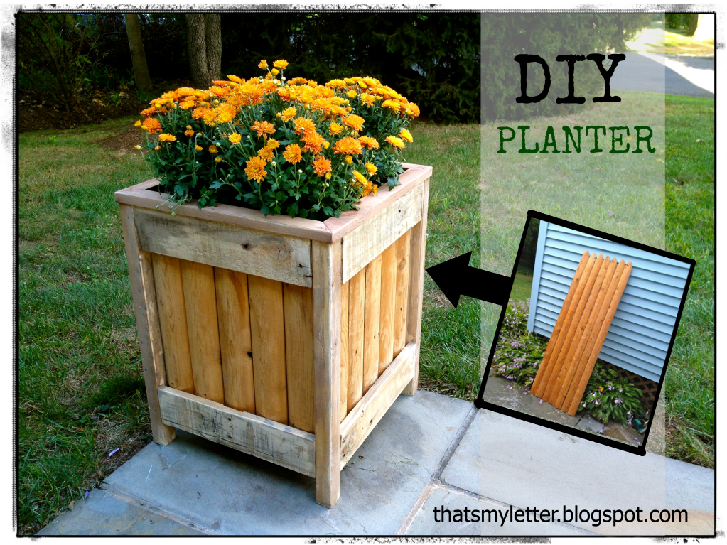 That 39 s my letter diy outdoor planter for How to make a flower box out of pallets