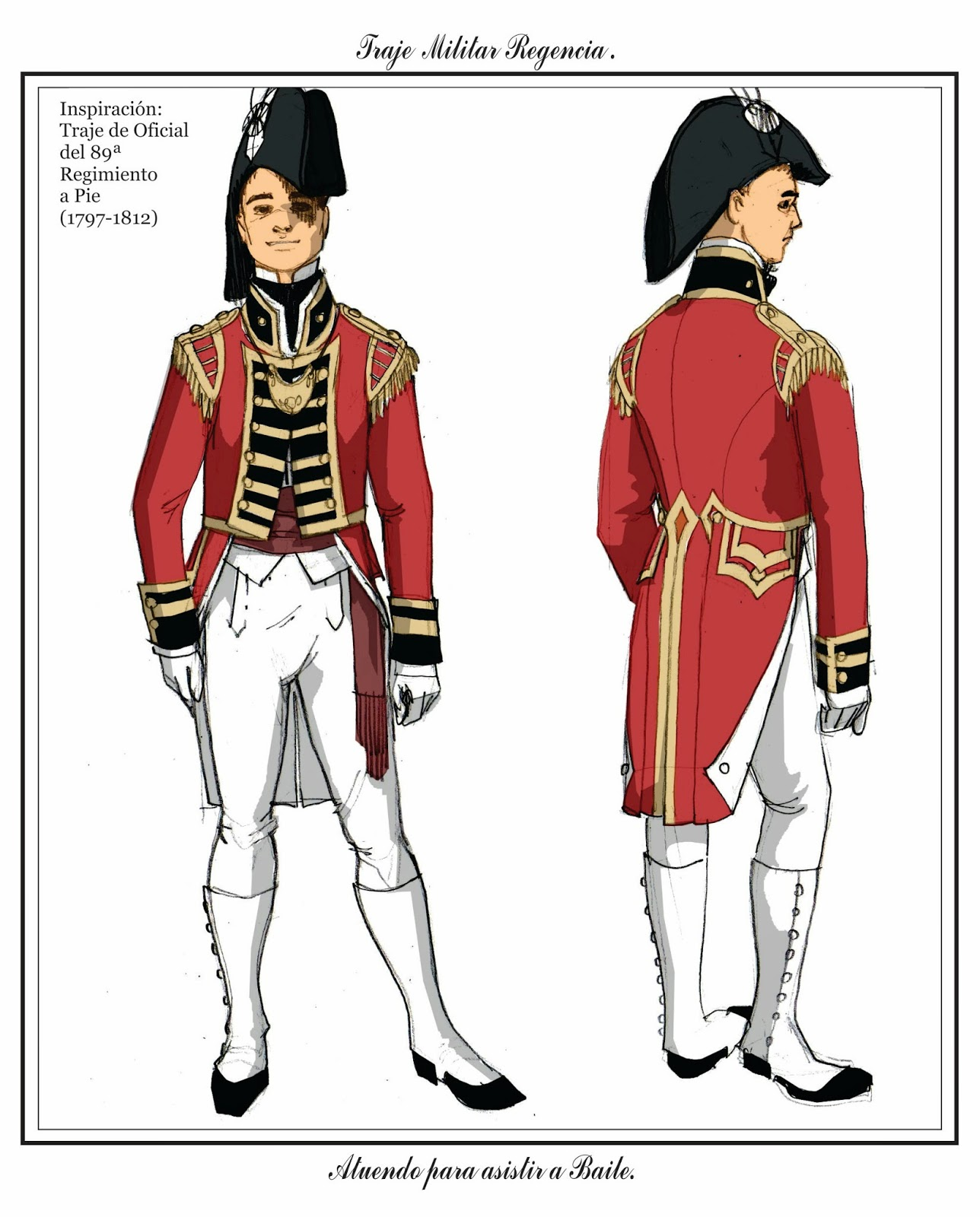 Tras los pasos de Beau Brummell: Chaqueta militar: Redcoat- Período ...