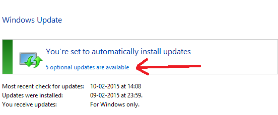 Optional-Windows-Update