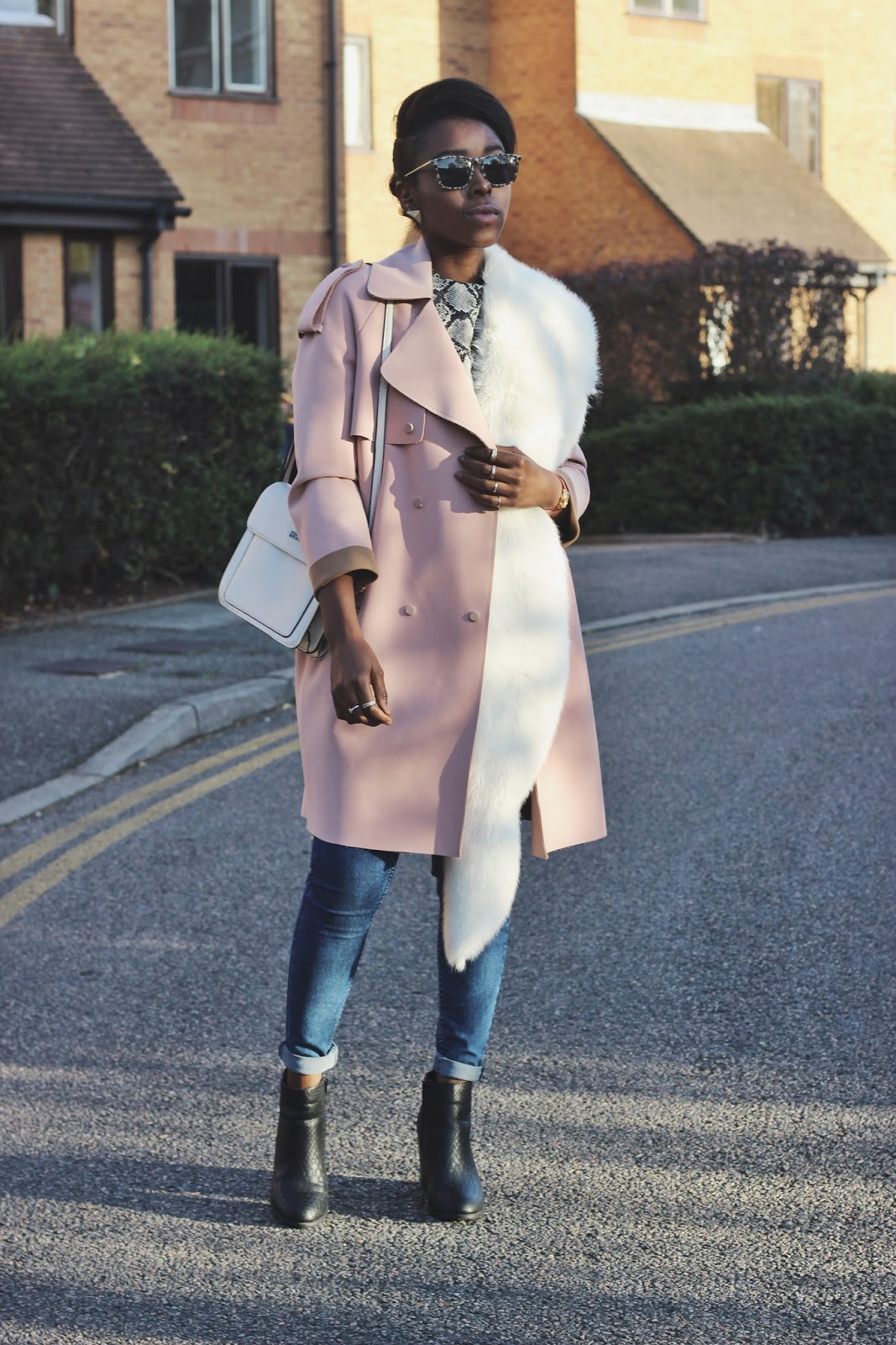 Bonded Pink Trench Coat