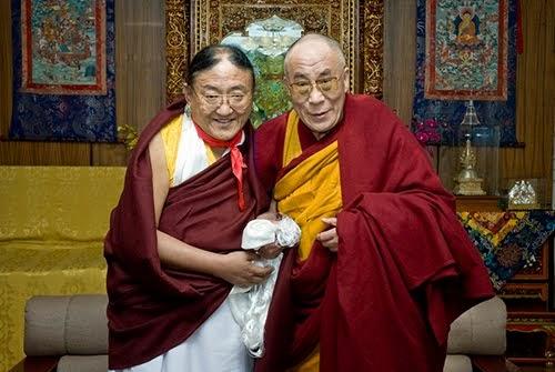 S.H. Sakya Trizin mit S.h. Dalai Lama