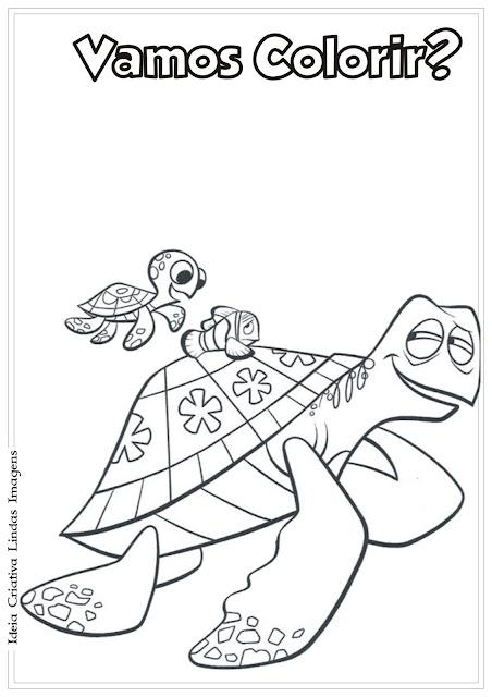 Desenho Procurando o Nemo para colorir