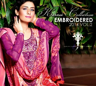 Karam Embroidered Dresses Collection 2014