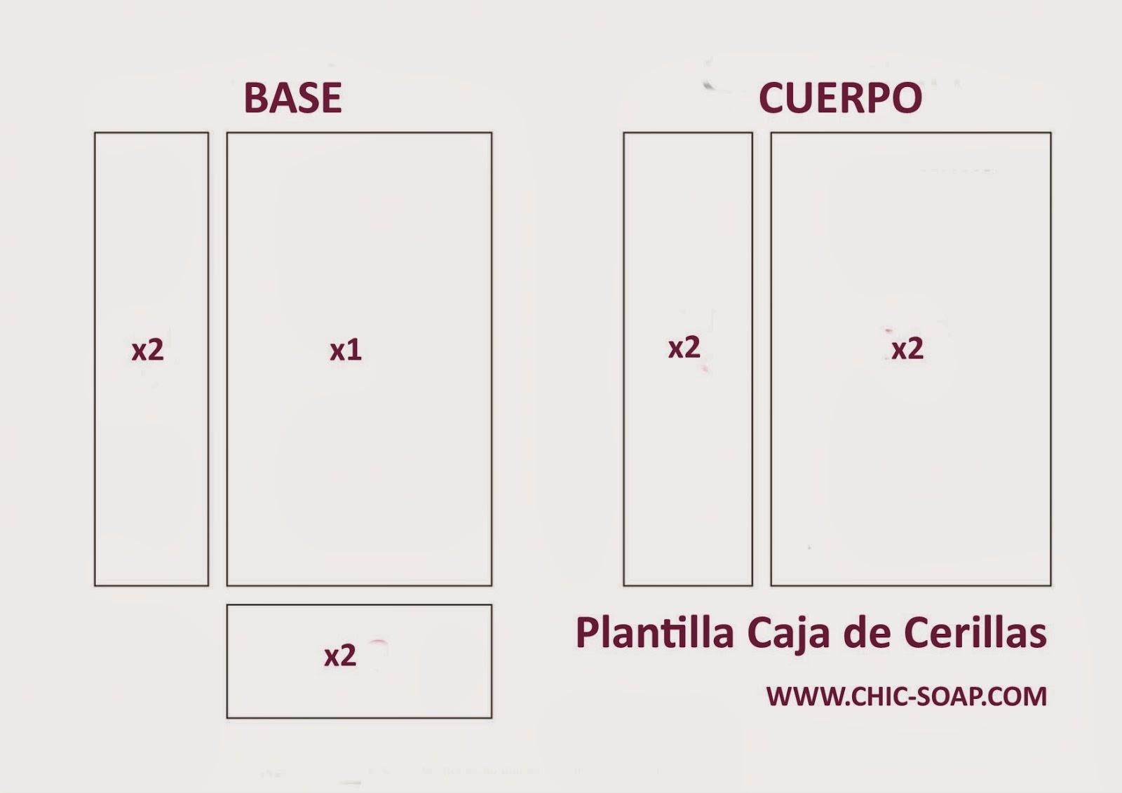 Plantilla Caja de Cerillas