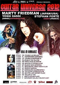 Marty Friedman Guitar Universe en Madrid, Barcelona y Bilbao en octubre
