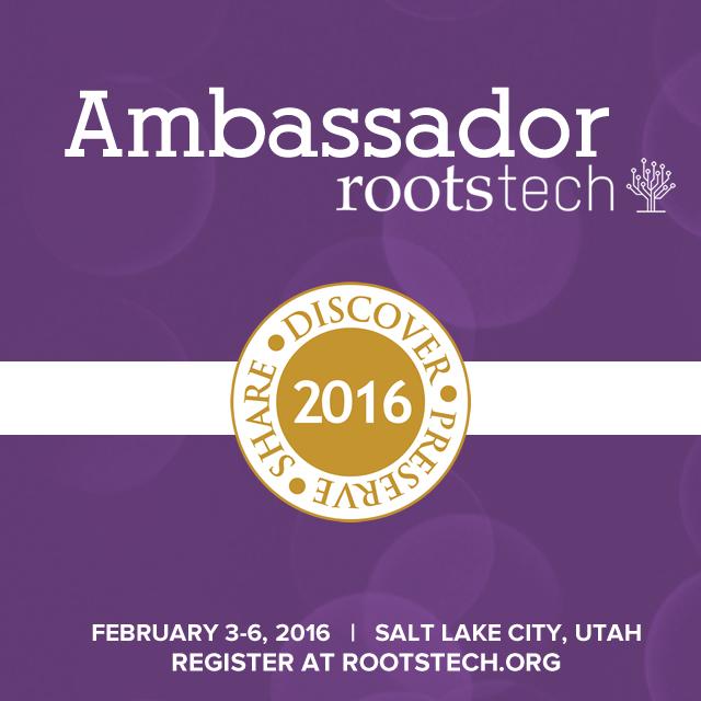 2016 Rootstech Ambassador