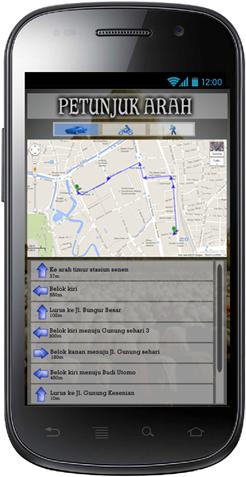 Aplikasi Shaf Finder: Halaman Rute Masjid