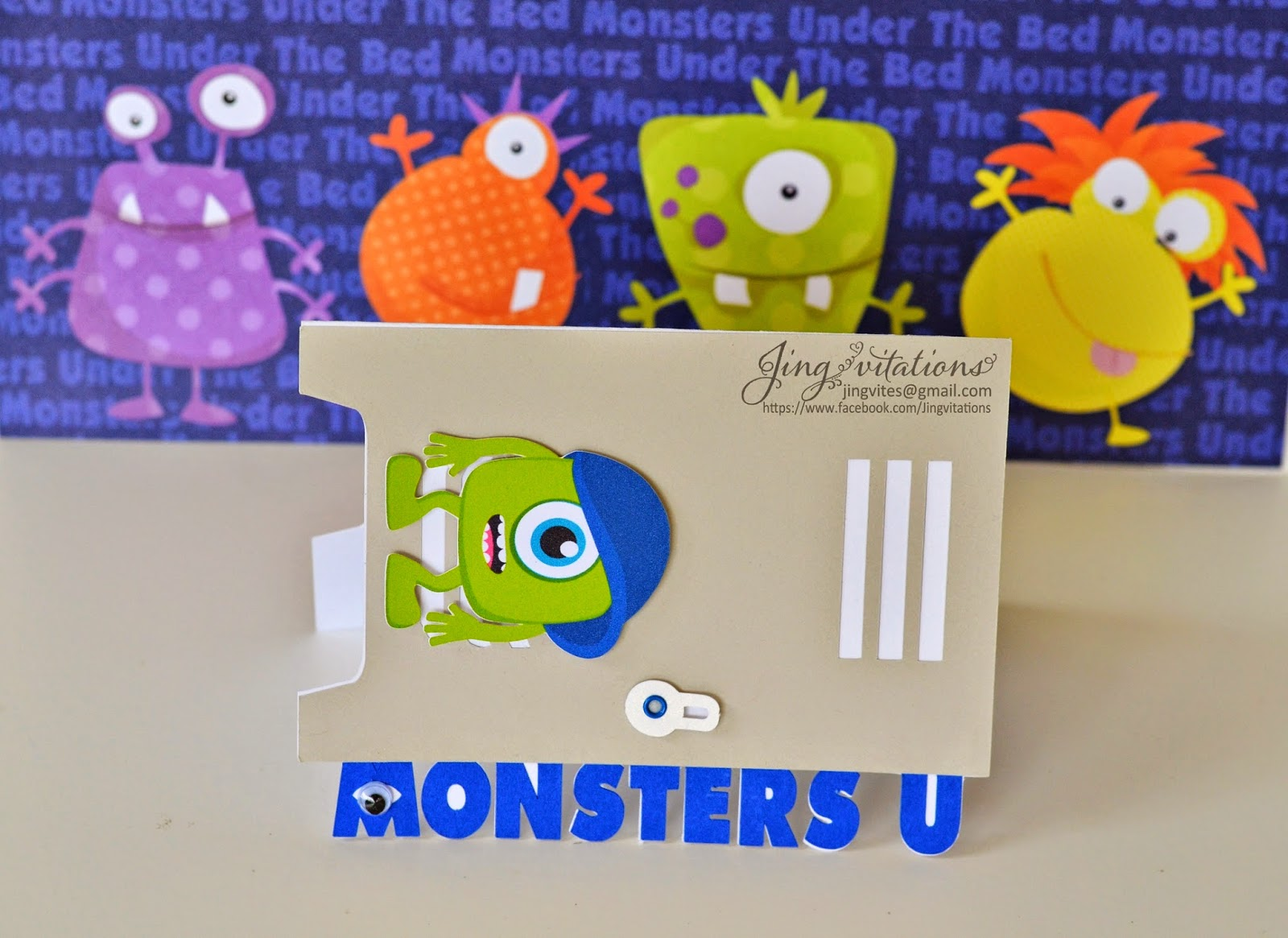 monster university birthday invitations