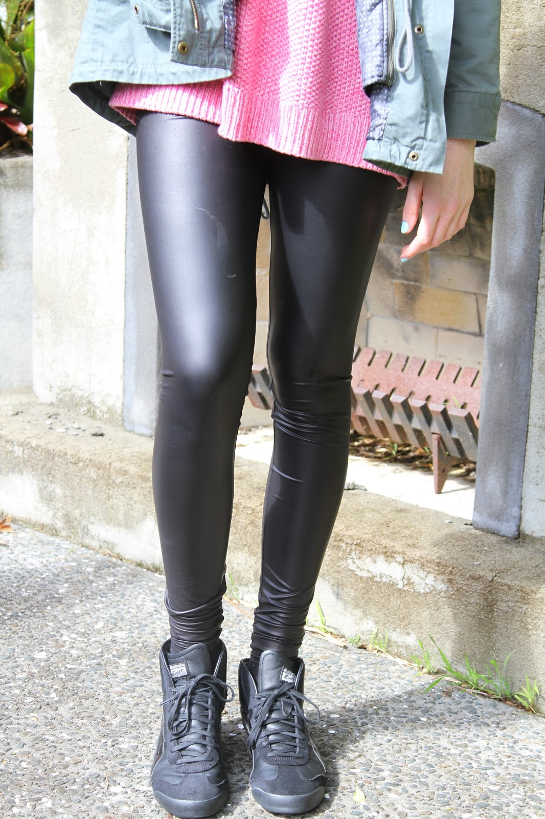 Showing post & media for Wet look leggings outfit ideas   www ...