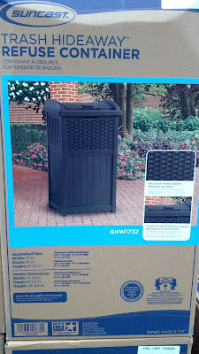 Suncast Resin Wicker Trash Hideaway Refuse Container GHW1732 to hide unsightly trash