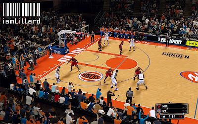 NBA 2K13 New York Knicks Fictional Court Patch