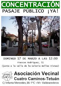 Colonia Bellas Vistas: Pasaje Público ¡Ya!
