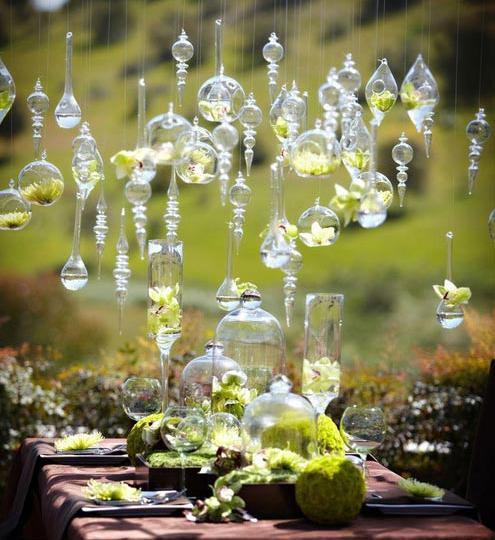 how to make hanging flower arrangements