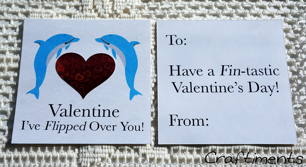 Craftiments:  Printable dolphin valentine
