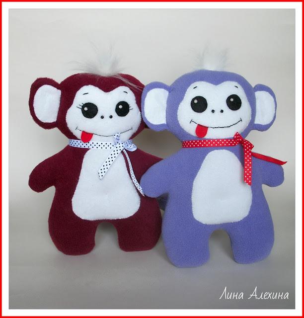 обезьянки игрушки, символ 2016 года, обезьянки хендмейд