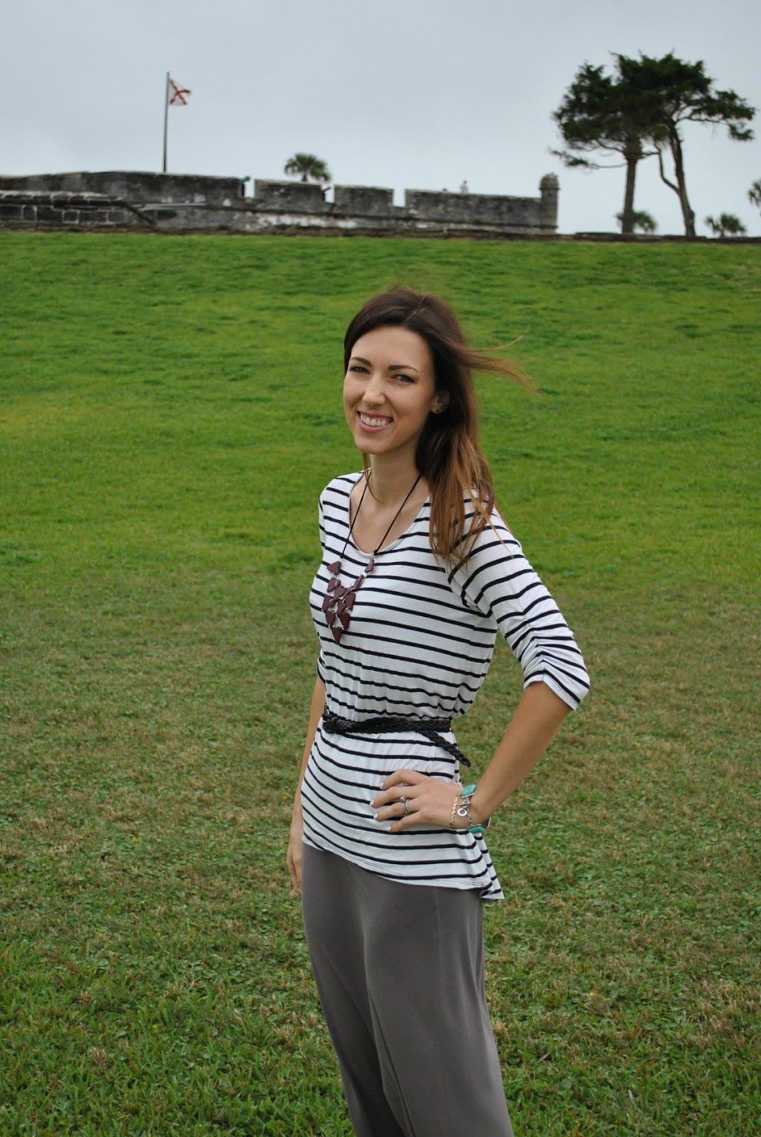 Fashion in St. Augustine at Castillo de San Marcos, outfit of the day