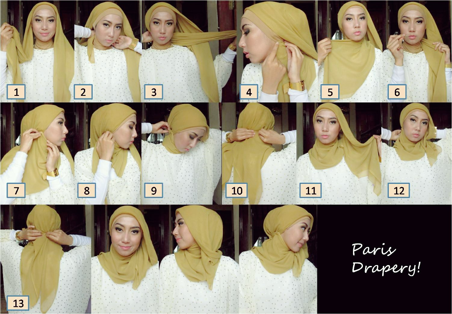 Paris Hijab Tutorial Youtube 2013, Modis dan Praktis