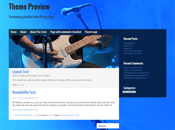 Musik WordPress Theme