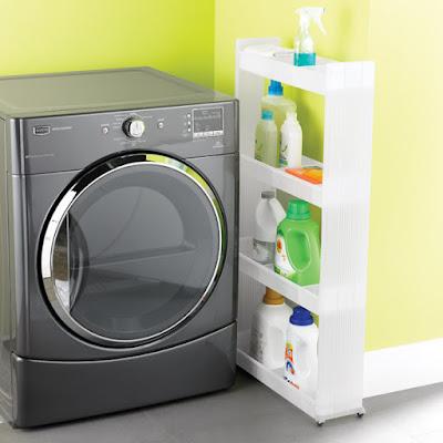 Lưu trữ đồ đạc thuận tiện cho khu giặt là