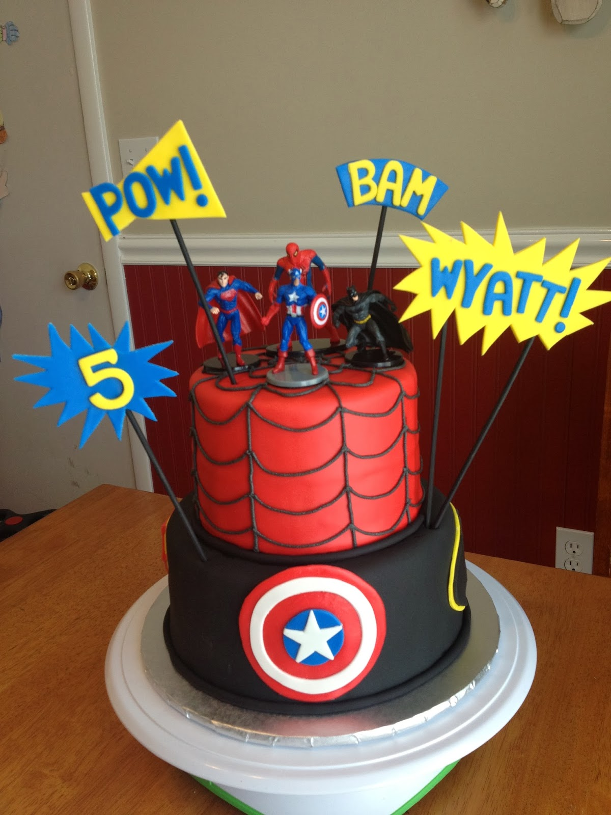 Sugar Love Cake Design Super Heroes