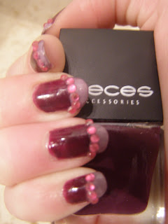 Nailart rihnestone purple