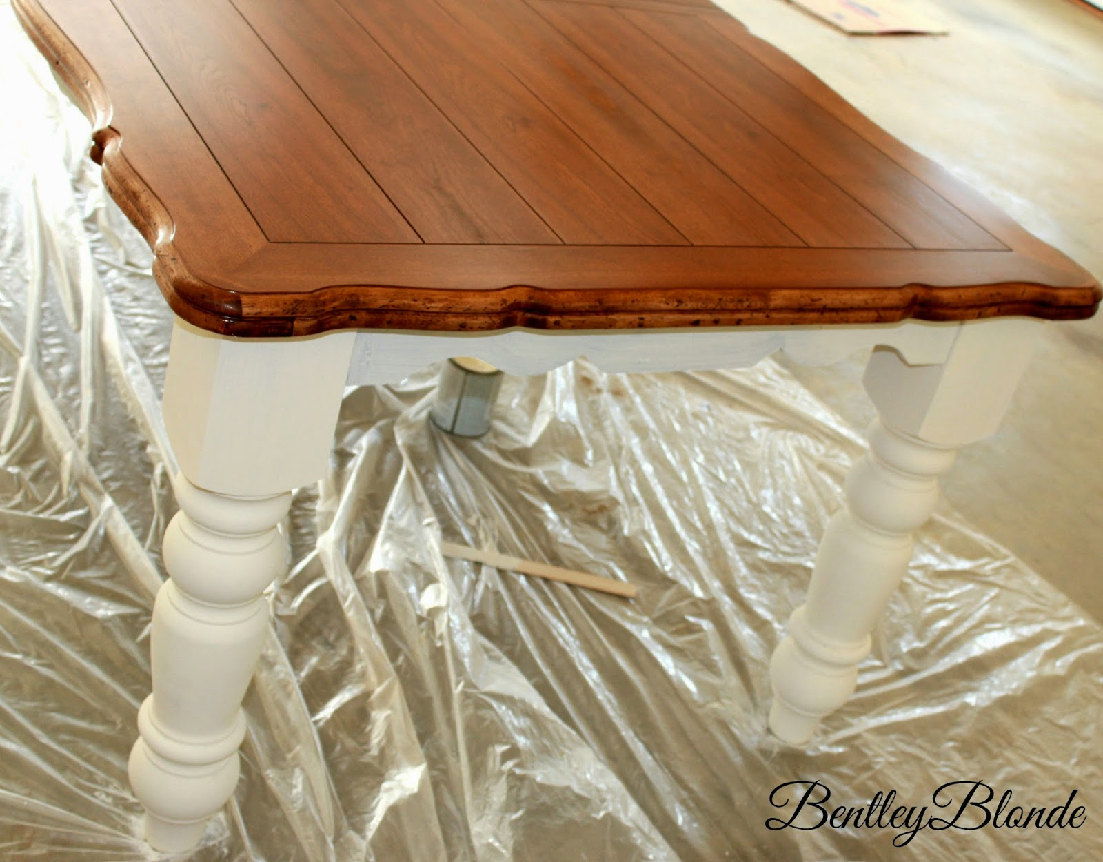 BentleyBlonde  DIY Farmhouse Table   Dining Set Makeover with Annie Sloan  Chalk Paint. BentleyBlonde  DIY Farmhouse Table   Dining Set Makeover with