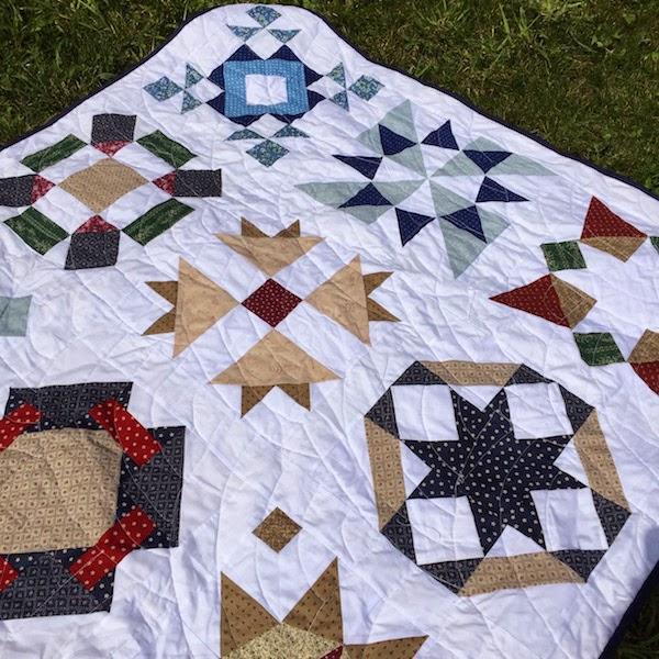 acolchado libre abanicos en patchwork quilting