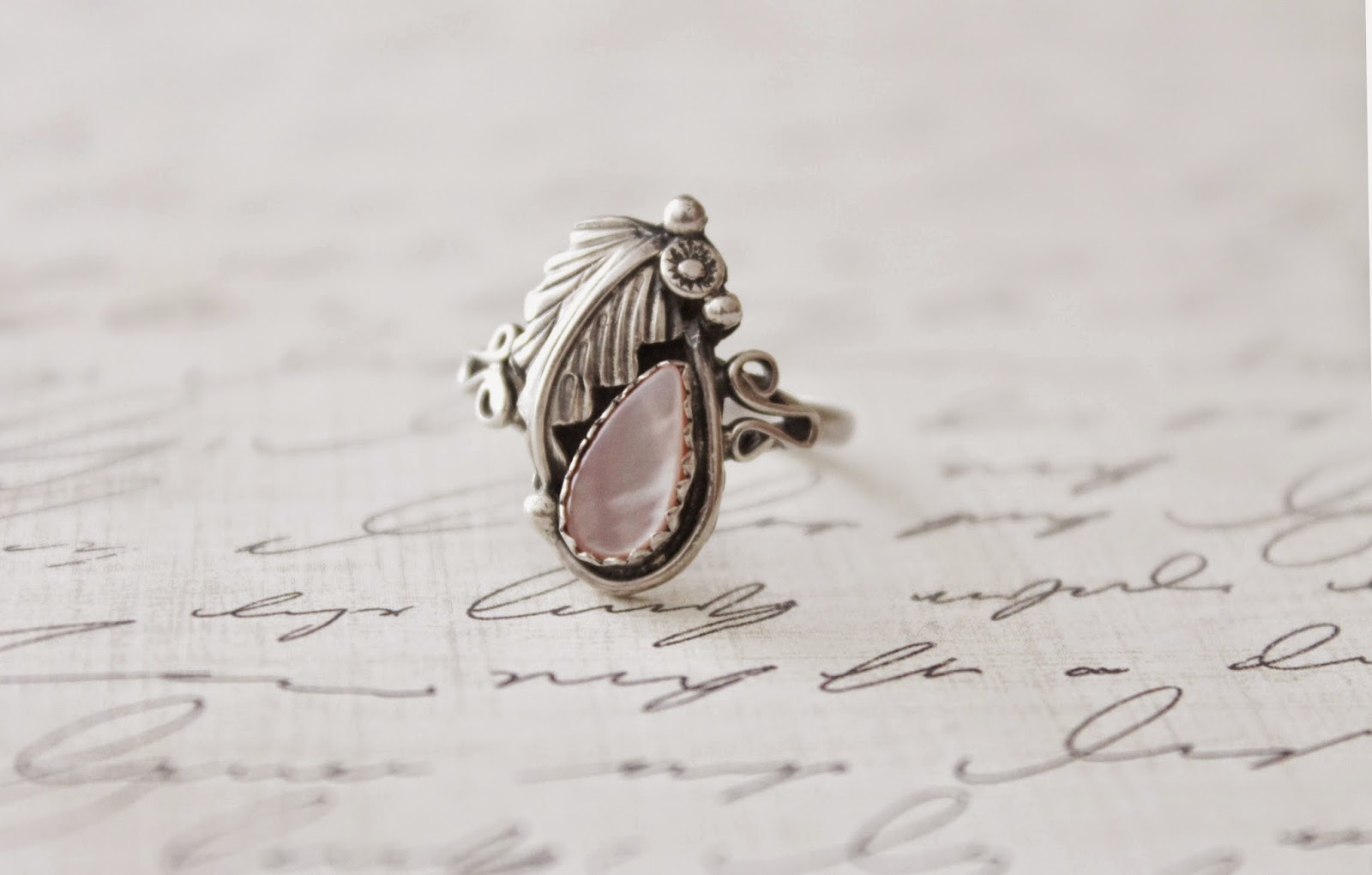 sterling silver edwardian ring