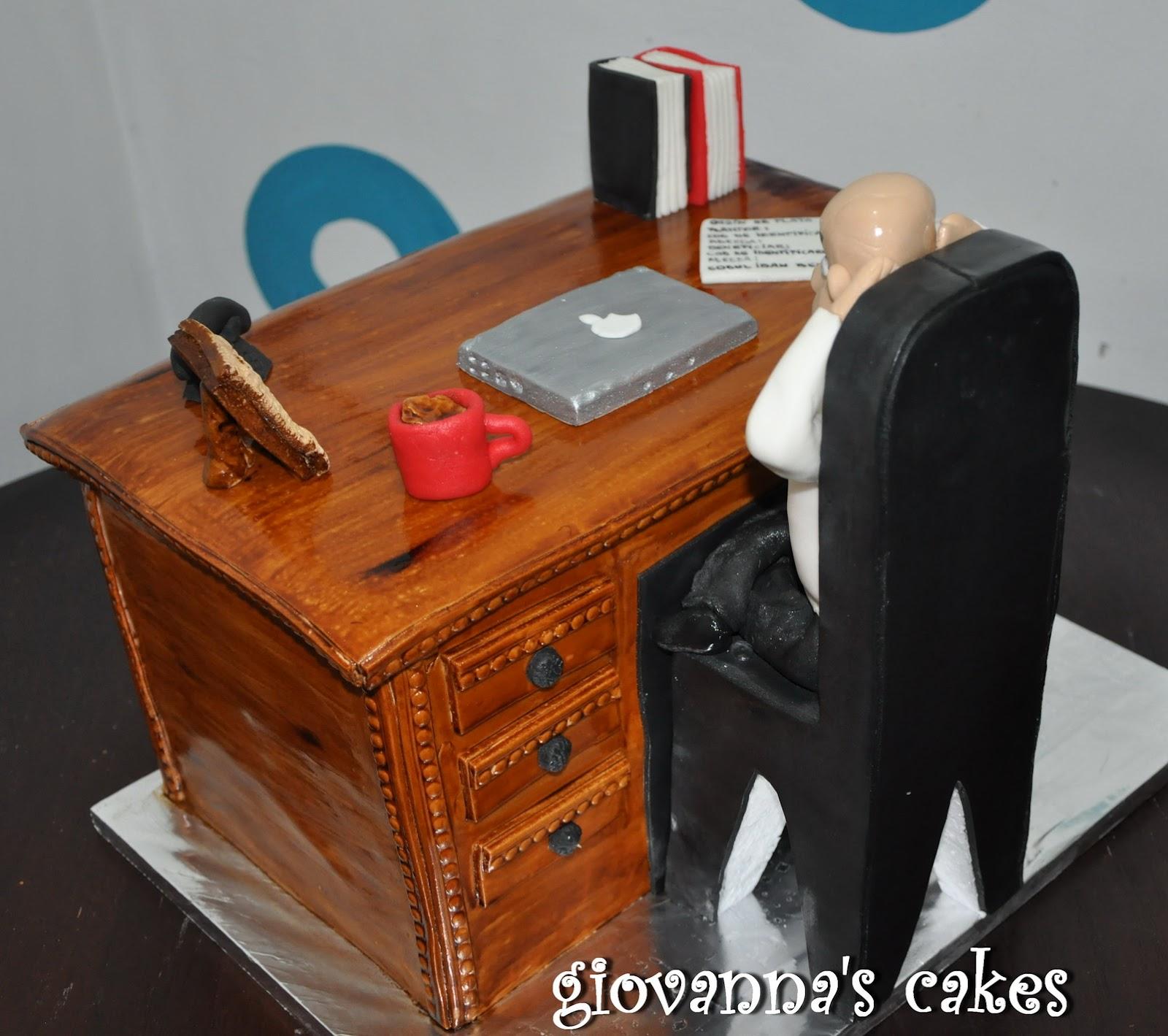 Cake Design Office : giovanna s cakes: Desk cake