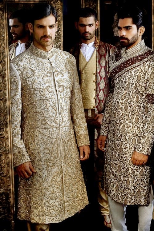 Arsalan Iqbal Dulha Sherwani Collection 2014