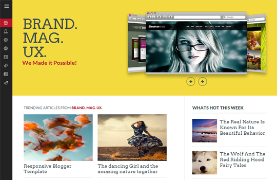 BrandMag UX Responsive Blogger Template