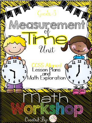 Math workshop for telling time third grade