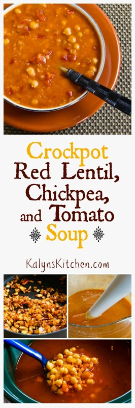 Crockpot Red Lentil, Chickpea, and Tomato Soup with Smoked ...
