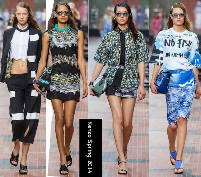 kenzo womens spring 2014 print dresses