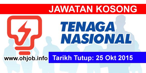 Jawatan Kerja Kosong Tenaga Nasional Berhad (TNB) logo www.ohjob.info oktober 2015