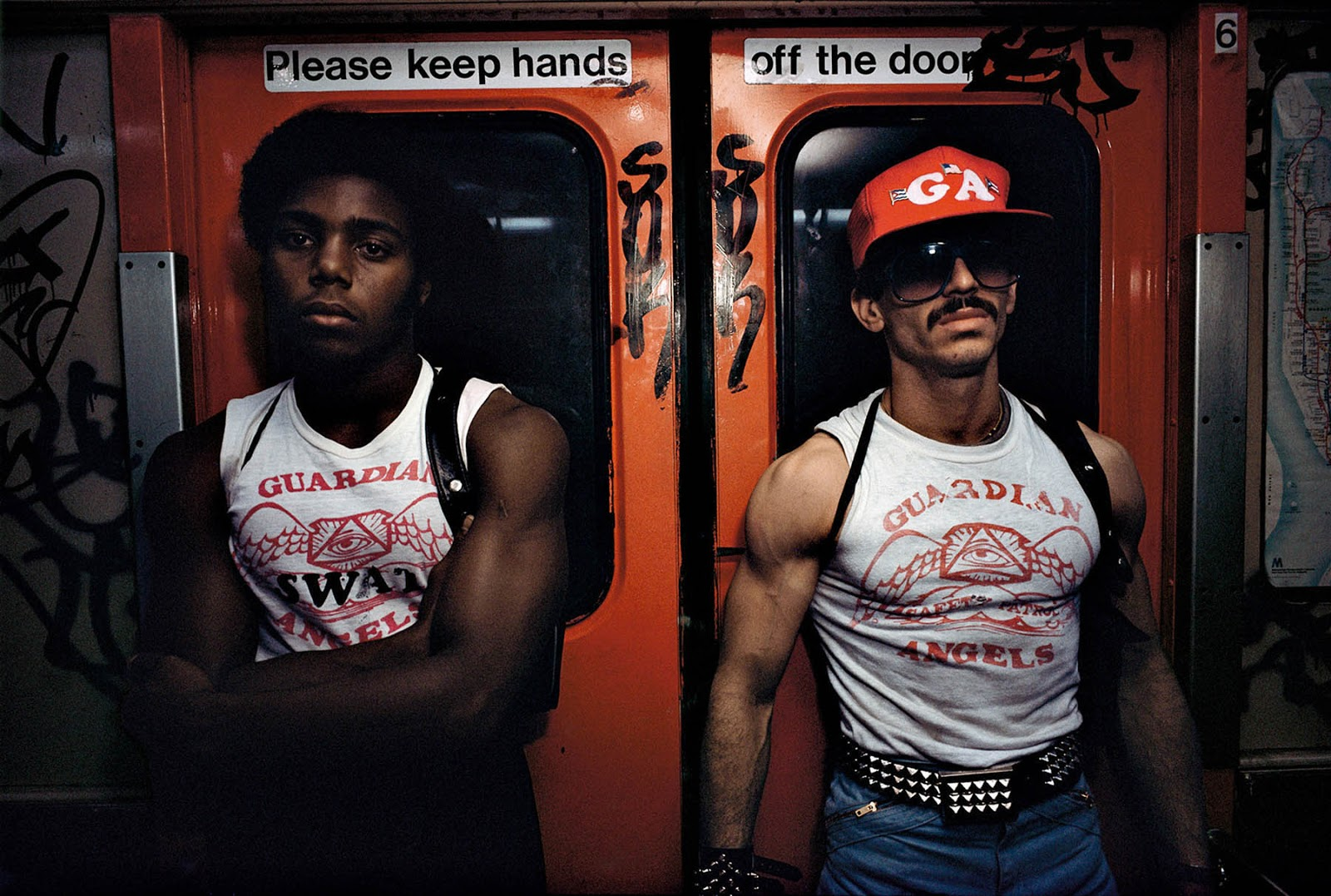 Guardian Angels on the New York City subway, 1980
