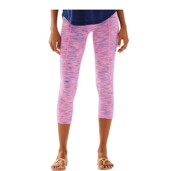 lilly pulitzer luxletic weekender pant flamingo pink space dye preppy workout yoga