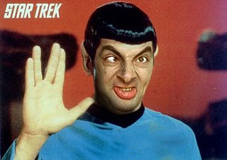 Face Mr. Bean Star trek